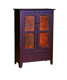 Amish Handmade Pie Safe Hutch with Punch Tin Panels Made in USA