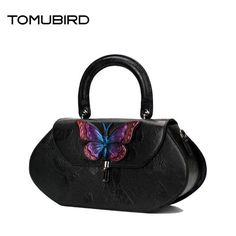 176.71$  Know more  - TOMUBIRD 2017 New embossing butterfly women bags designer genuine leather bag quality women leather handbags shoulder bag