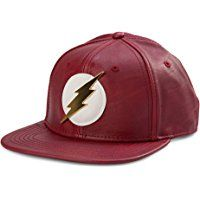Bioworld Official- DC Comics Flash- Faux Leather Snapback Hat- One Size