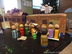 how to paint Nativity peg dolls