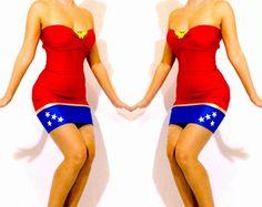 Wonder Woman Strapless Mini dress Costume Costume by delphina123