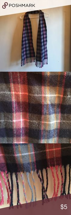 Scarf This blue and pink checker bored flannel is super soft and cozy! Accessories Scarves & Wraps