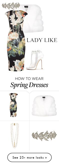 """Chanel #5 Floral"" by christenamelea on Polyvore featuring Harrods, Ted Baker, Rosantica, Viktor & Rolf, women's clothing, women's fashion, women, female, woman and misses"