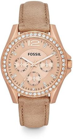 Fossil Riley Multifunction Stainless Steel Watch - Rose Es3363 - http://www.specialdaysgift.com/fossil-riley-multifunction-stainless-steel-watch-rose-es3363/