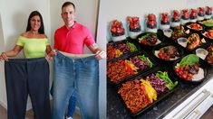 Couple loses a combined 200 pounds with 'extreme' meal prep: 'We eat whatever we want' Meet the meal-prep king and queen who have lost a combined 200 pounds by cooking the entire weeks' food in one go. Sweet Potato Skins, Loaded Sweet Potato, Healthy Meal Prep, Healthy Snacks, Healthy Recipes, Meal Prep Services, One Meal A Day, Meal Delivery Service, Slim Fast