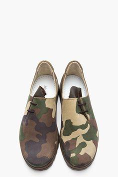 DIEMME Green Camo Bavaria J Side-Lace Sneakers