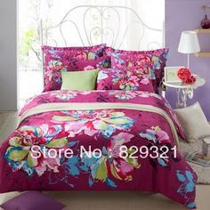 Aliexpress.com : Buy Textile 100% cotton  reactive printed four piece bedding set satin wear resistant duvet cover set,comforter set,bedsrpead from Reliable comforter suppliers on Mandy Wholesale. $75.00