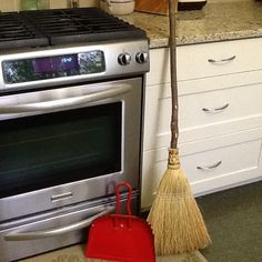 is a pretty new and I think I'll sweep more often since these are cute enough to keep out all the time. Handmade broom from dustpan from Dustpan, Organic Cleaning Products, Crate And Barrel, Happiness, Pretty, Handmade, Hand Made, Shovel, Bonheur