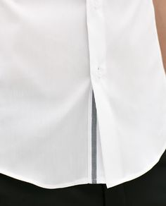 ZARA - MAN - STRETCH SHIRT WITH CONTRASTING RIBBON