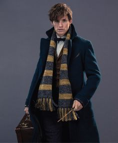 Newt Scamander (played by the very lovely Eddie Redmayne)