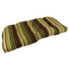 Lava Cove Stripe Cafe Sunbrella Outdoor U Settee Cushion - LAVA11-0096