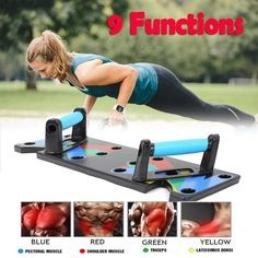 """Heavy duty """"Plug & Press"""" push up board system with multiple positions and angles that sculpt and maximize upper body definition. Multifunction Push Up Rack Board Comprehensive Fitness Exercise Workout Push-up Stands Body Building Training Gym. Push Up Muscles, Back Muscles, Body Training, Muscle Training, Gym Workouts, At Home Workouts, Workout Men, Sport Direct, Strength And Conditioning Workouts"""