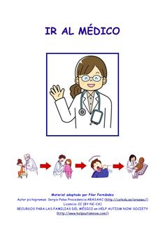 Ir al médico (Historia social para niños con autismo) Picture Exchange Communication System, Autism Spectrum Disorder, Comics, Tea, Google, Socialism, Social Stories, Play Therapy, Child Psychotherapy