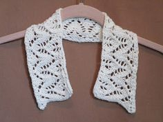 Knitted Lace Collar in a medium weight cotton/silk blend.