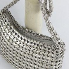 Pop Tab Purse in silver medium ♥ by sjroemer on Etsy, $60.00