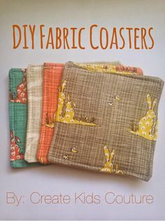 DIY Fabric Coasters - Great for housewarming or hostess gifts!