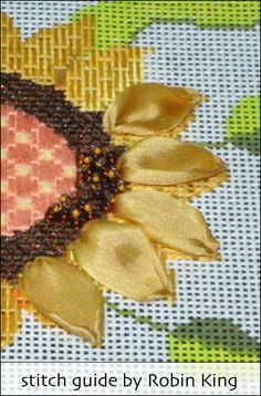 Needlepoint Study Hall: Sunflower and Berries (ND 309) - part four
