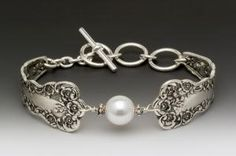 Silver Spoon Jewelry: Vintage Spoon and Fork Jewelry: Lady Helen Spoon Bracelet made from Antique Silverware