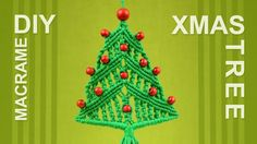 How to Christmas Tree - Macrame Xmas Ornament Decoration by Macrame School·