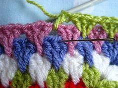 How to crochet the granny spike stitch . . . .   ღTrish W ~ http://www.pinterest.com/trishw/  . . . .