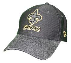 New Era New Orleans Saints NFL 39THIRTY Popped Shadow Flex Fit Hat -  Graphite 6a4ac917e8df