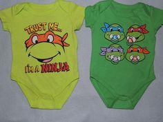 TEENAGE MUTANT NINJA TURTLES INFANT BABY ONESIE SIZE NB 0/3 3/6 6/9 NEW! #Everyday