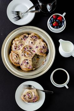 Blueberry Cinnamon Rolls with Maple Cream Cheese Glaze (Whole Wheat) | cooking ala mel