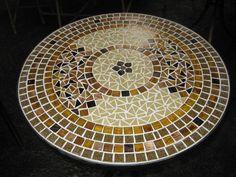 tampo de mesa mosaico CÓD TP 36 | Canto das Artes - Mosaicos | Elo7