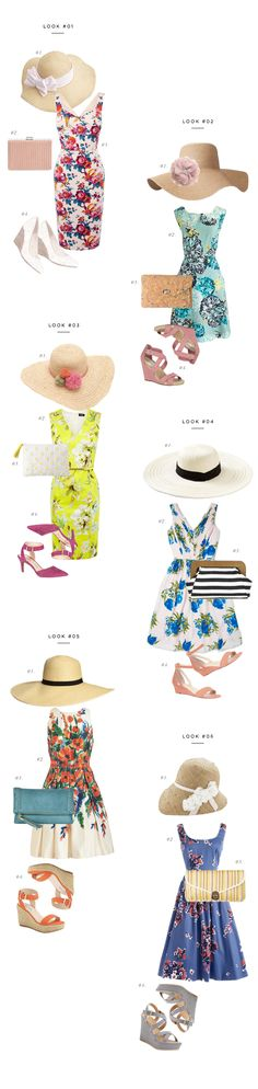 Easy, breezy Kentucky Derby outfit ideas and where to buy them! #VerilyStyle -I couldn't pull off outfits this girly, but they sure are cute!