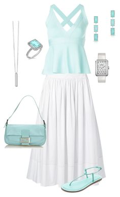 """""""My Perfect Summer Outfit"""" by kel-in-sd on Polyvore featuring Elizabeth and James, Bernardo, Fendi, Boutique Moschino, Allurez and Chanel"""