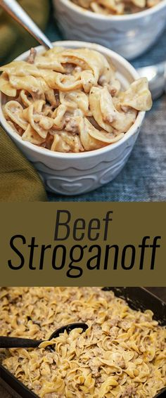 I used beefy mushroom soup and added garlic salt. simple and easy Beef Stroganoff recipe ... DELICIOUS