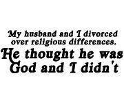My husband and I divorced over religious differences