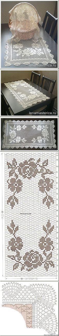 patron de centro de mesa a crochet