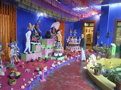 Day of the Dead display in Frida Kahlo Museum - Google Search