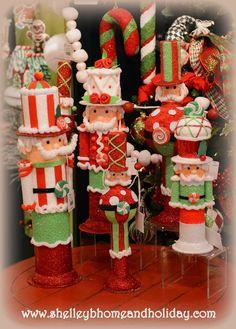RAZ Christmas 2014 Decorating Collections: Candy Sprinkles Santa's Holiday To Be Jolly Snow Biz Artic Palace Joyful Silh. Candy Christmas Decorations, Christmas Candy, Christmas Stockings, Christmas Crafts, Christmas Ornaments, Holiday Decor, Nutcracker Christmas, Christmas 2014, Xmas