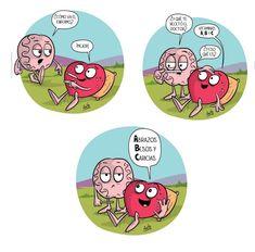 Sentimiento y Pensamiento Crazy Heart, My Heart, Heart Vs Brain, Funny Quotes, Funny Memes, Mr Wonderful, S Quote, Emoticon, Anime