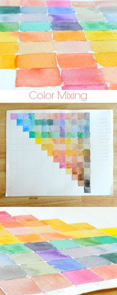 Watercolour Colour Mixing Chart - how to create a useful colour mixing chart