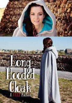 Long Hooded Cloak Pattern {FREE} ♥ Fleece Fun