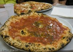 Pizzas from the Pizzaria da Michele in Naples some say it's the best pizza in Naples.