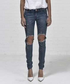One Teaspoon - Blue Blonde Loonies Bb Style, Denim Jeans, Skinny Jeans, Pants, Blue, Clothes, Shopping, Women, Fashion