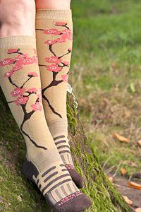cherry blossom knee highs