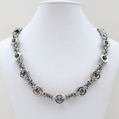 Stainless steel hex nut chainmail necklace by TattooedAndChained, $115.00 LA COLLANA CON I BULLONI MI MANCAVA.....