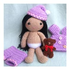 Amigurumi Cute crochet Toys and Carfts shop : Amigurumi Crochet pattern - Joy's 2Outfits girls doll