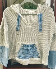 Upcycling alte Jeans als Top - Lilly is Love Sewing Clothes, Diy Clothes, Refashioned Clothes, Denim Crafts, Upcycled Crafts, Mode Statements, Mode Hippie, Diy Kleidung, Denim Ideas