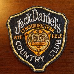 Jack Daniel's Hole Country Club Patch - The Whiskey Cave 19th Hole, Embroidery Patches, Jack Daniels Whiskey, Pin And Patches, Golf Outfit, Clothing Co, Unique Vintage, Club, Country