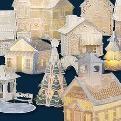 Christmas Village! Free standing lace embroidery designs by Embroidery Online
