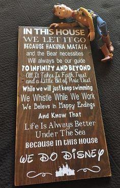 Disney Quotes Wood Sign