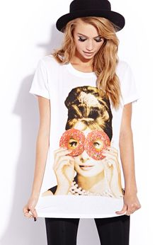 Sweet Audrey Tee   FOREVER21 Donuts at Tiffanys #Forever21 #GraphicTee #AudreyHepburn #Capsule