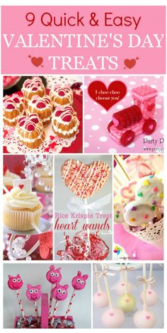 9 Quick & Easy Valentine's Day Treats! See more party ideas at CatchMyParty.com