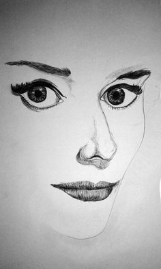 This is my first ever charcoal drawing.  The drawing depicts only the essential features of the lady.
